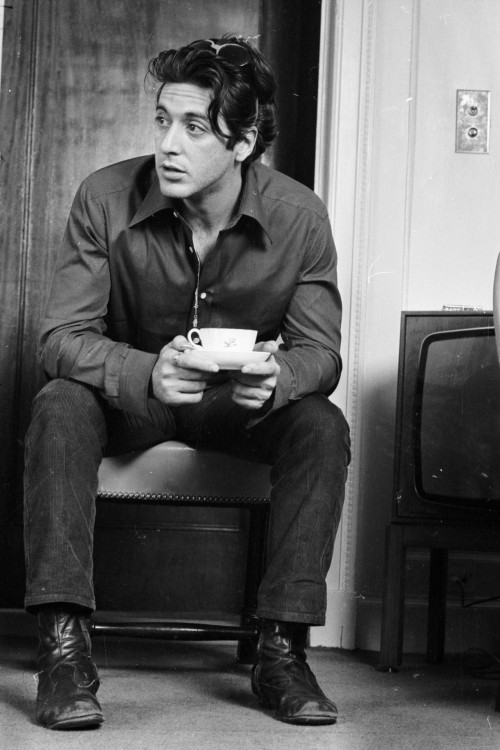 waiting4somebody:  Al Pacino  photo by Steve Wood, 1974