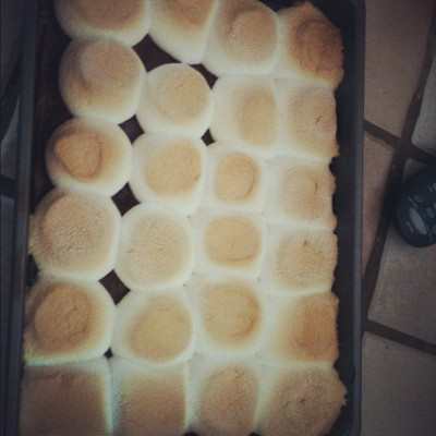 S'mores brownies :3 (Taken with Instagram)