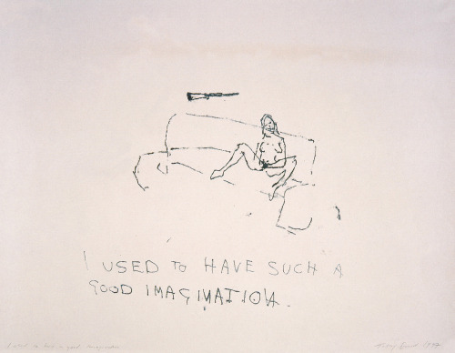 anorsexic:  Tracey Emin, I used to have such a good imagination, Monoprint, c. 1997, 59 x 73 cm.