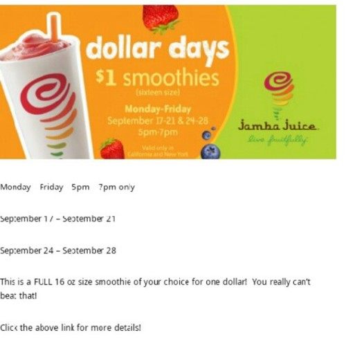 For those of you who didn't know :) #jambajuice #happyhour  (Taken with Instagram)