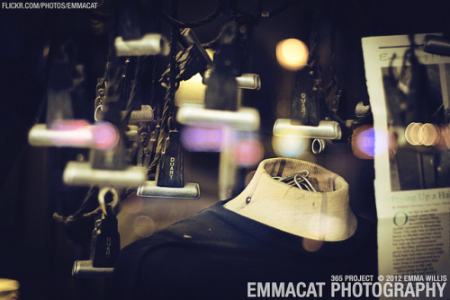 Vintage Perm Machine - 164/365 on Flickr.Via Flickr: Sorry I am late on editing and posting these, but I am still taking photos for this project every day! A perm machine display in the window of a hair salon in Greenwood.