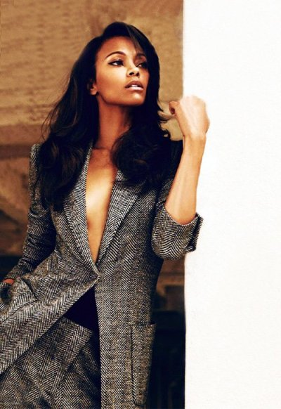 actress Zoe Saldana for Harper's Bazaar UK [Oct 2012]