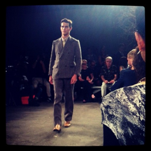 Billy Reid's dapper #NYFW presentation is on our radar for SS13. (Taken with Instagram)