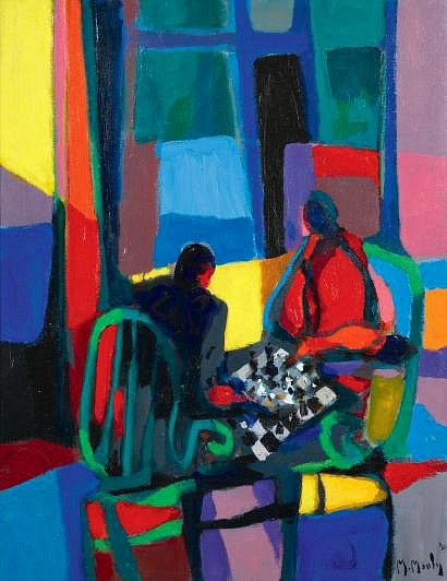 Marcel Mouly Checkers Players 1990