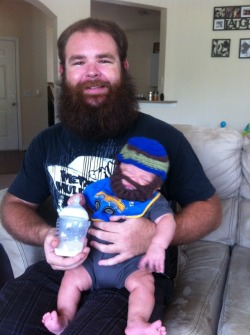 beardedbarbarian60:  Me and nephew kickin it with our beards