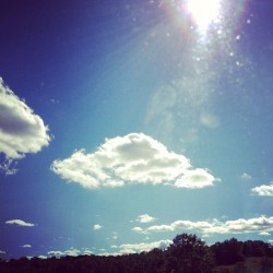 #sky #clouds #travel #bus #newyork #nature #trees (Taken with Instagram)