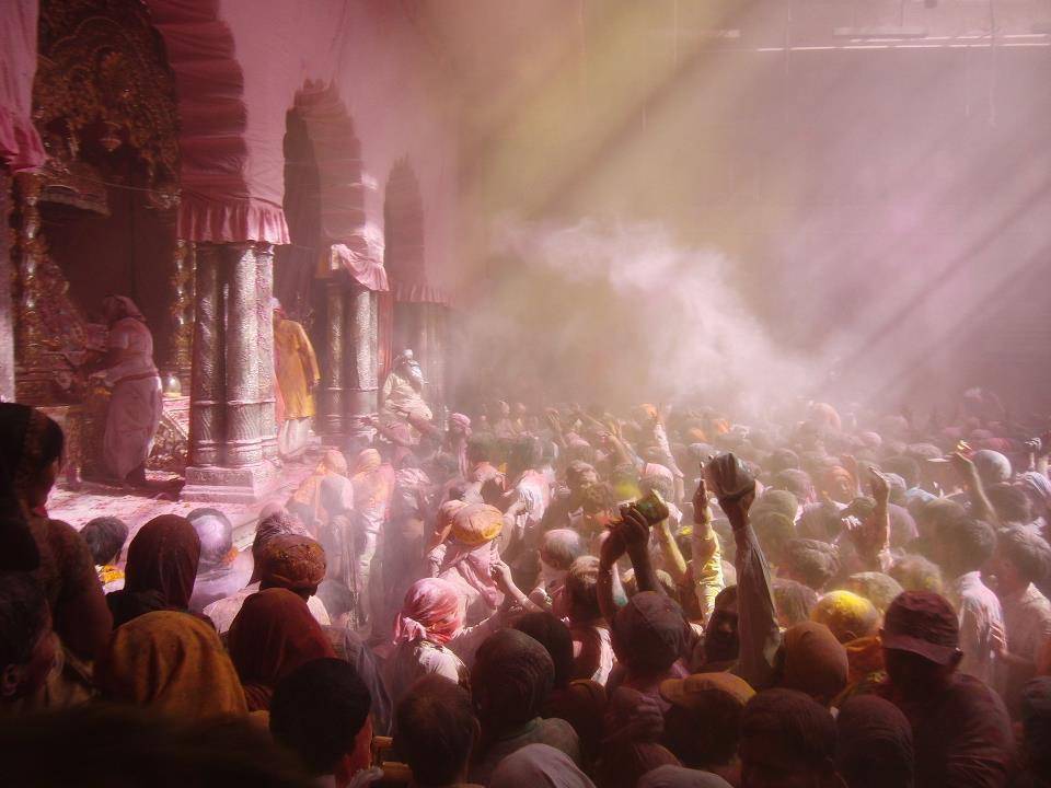 I took this during Holi in Vrindavan, India.