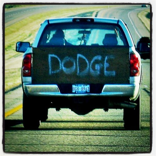 badboyredneck:  #dodge #tailgate #driving #truck #redneck #loveit #lol #awesome #goodidea by spring_showers http://instagr.am/p/P96uWrt8lW/