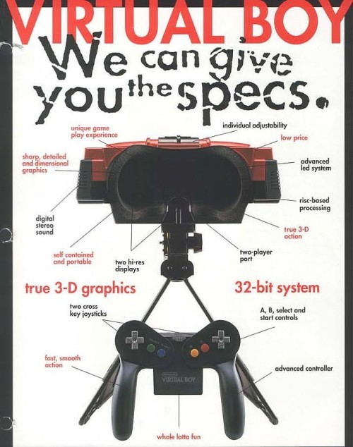"""We can give you the specs, and the Virtual Boy will supply the blinding headaches."""