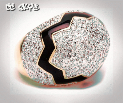 CC SKYE's  Fall 2012 collection Cracked Pave Egg Ring.