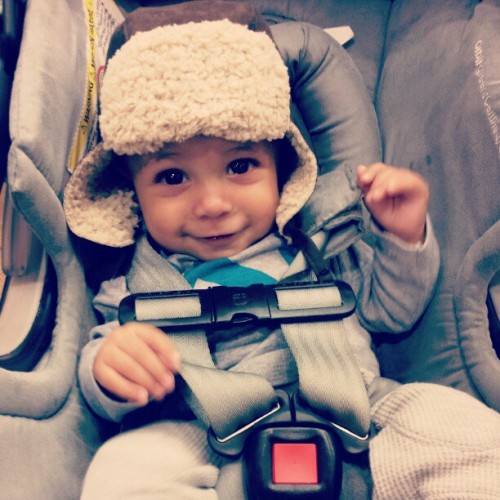 Sophia's #boo be rockin' the flyest gear #cute #baby #hat  (Taken with Instagram)