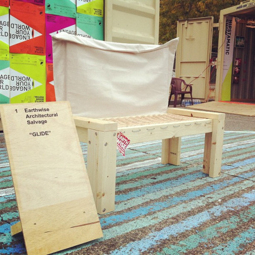 "Seattle Design Jam furniture competition. ""glide"" by Earthwise Salvage #sdf12 on Flickr.Earthwise Architectural Salvage's Entry ""Glide"""