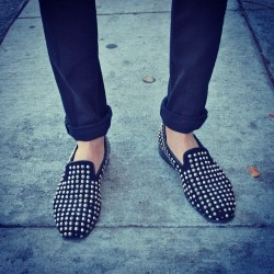 Loafer and cuff perfection. More snaps from #SF on the site later this week. :) #streetstyle #sanfrancisco  #shoestalking  Photo by Aranxa Ramos for tresdope.com. (Taken with Instagram)