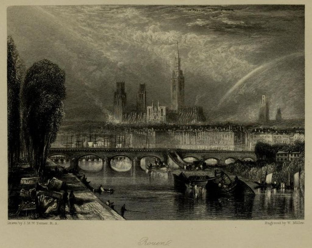 Wanderings by the Seine (1834) Author: Ritchie, Leitch, 1800?-1865; Turner, J. M. W. (Joseph Mallord William), 1775-1851Publisher: London : Published for the proprietor, by Longman, Rees, Orme, Brown, Green, and Longman ; Paris : Rittner & Goupil ; Berlin : A. Asher  via
