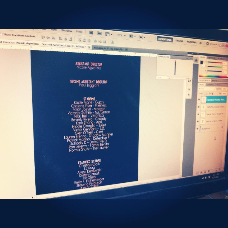 alphagirlsmovie:  Finalizing the Alpha Girls credits. See you at The Troc Oct 3rd.