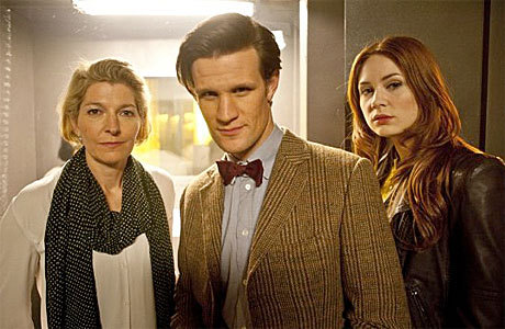 'Doctor Who' Recap: 'The Power of Three' | Anglophenia  It's now 10 years since Amy first started traveling with the Doctor. She's given up the modelling and now writes travel articles. Rory continues to excel as a nurse, except he's catching some heat from his boss because, try as he might, the Doctor can never quite return them at the same point in time from which they departed. But that's by the by, a time-traveler's admin headache, and not the stuff of legendary adventures. Not like, say, a rain of little black cubes all over the planet. Even the Doctor can't tell what they are, and nor can Rory's dad Brian (who has developed an obsessive need to record their every non-movement)….  Click to read.
