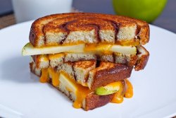 Apple and cinnamon grilled cheese.