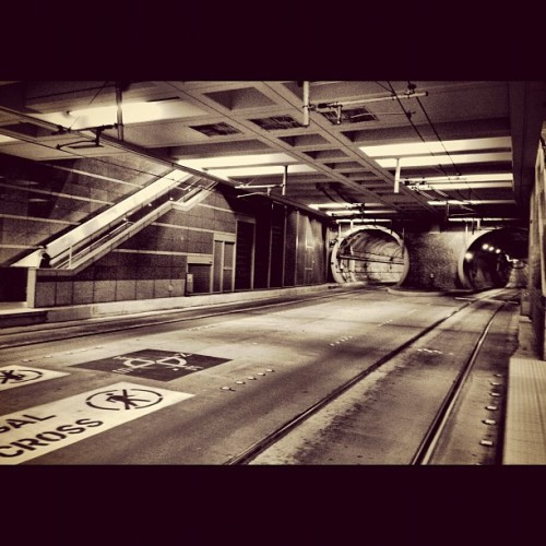Tunnel station! #seattle #igers #igers_seattle #iphonesia #iphone5 #igers_seattle_fav #instagram #infrastructure #architecture #underground #concrete #tunnels  (Taken with Instagram)