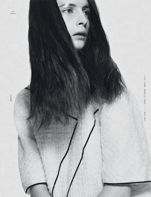 revesdesyeux:  Suzie Bird wearing Chanel by Armin Morbach for Tush #27