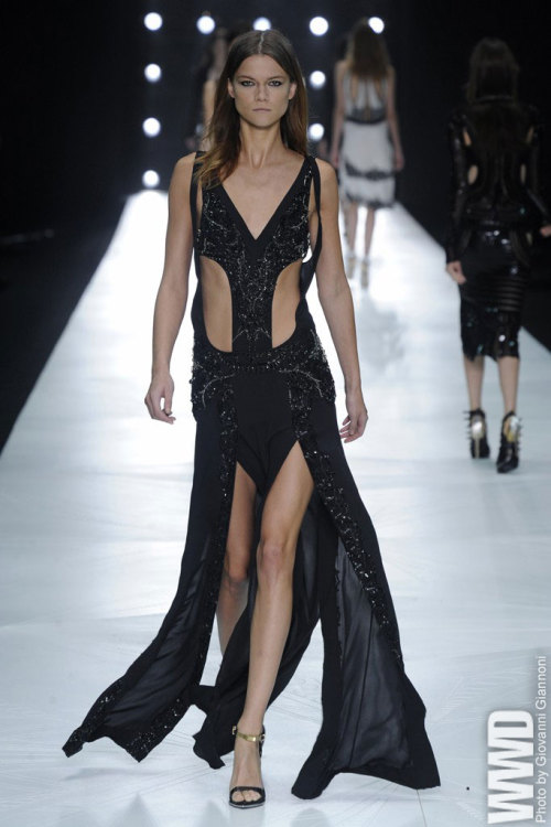 Roberto Cavalli RTW Spring 2013 After a several-seasons-long struggle to find the right direction in which to evolve, the designer's chakras appeared to be spinning at full tilt.  For More See all of WWD.com's RTW Spring 2013 Runway Coverage