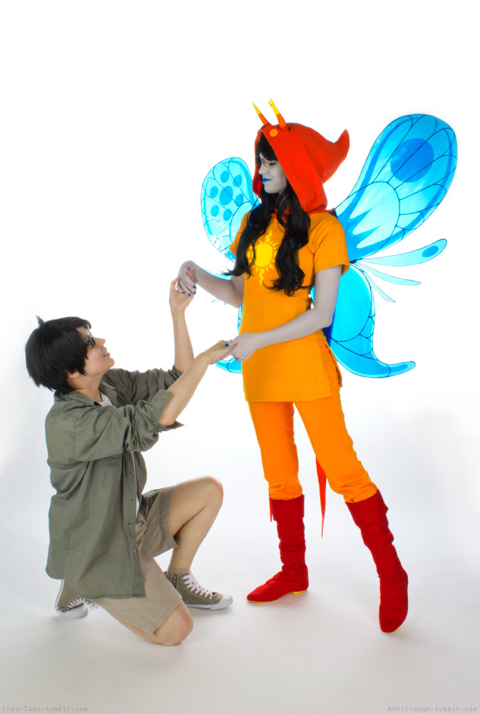 Meeting a god. Jake English: Ered, Vriska Serket: Anniina