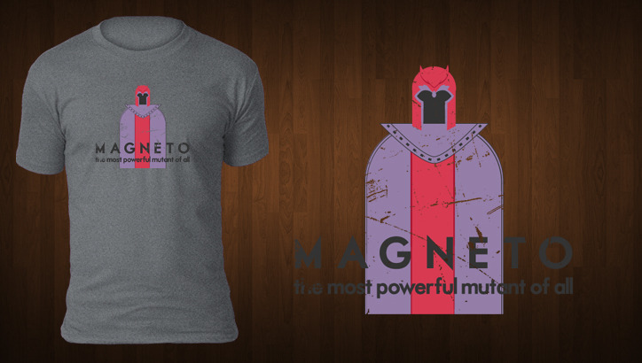 Magneto - T Shirt Design by ~zombiemedia75