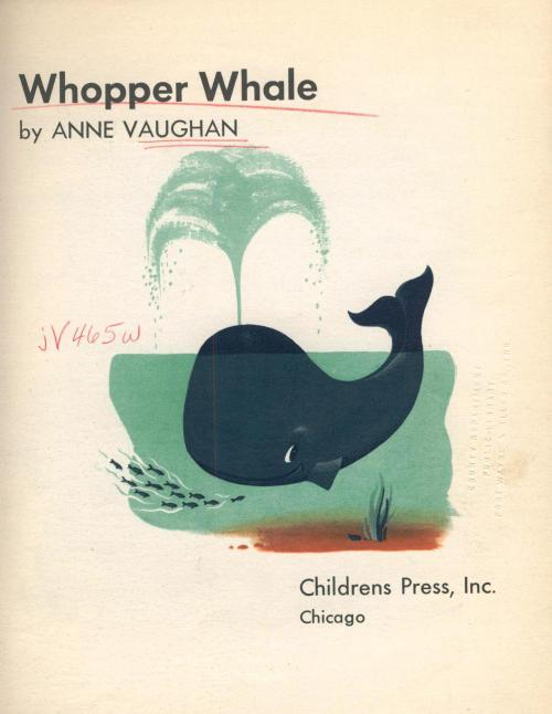 Whopper Whale by Anne Vaughan c.1951