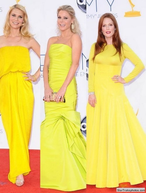 Claire Danes, Julie Bowen and Julianne Moore working the neon trend from the runways!