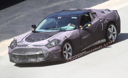 2014 Chevrolet Corvette Spy Photos: New seats and new tail spotted! via Car and Driver