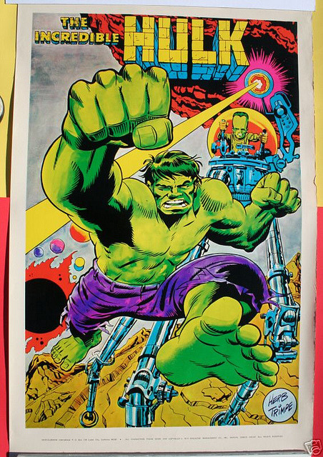 The Incredible Hulk poster by Herb Trimpe (late 1960s)