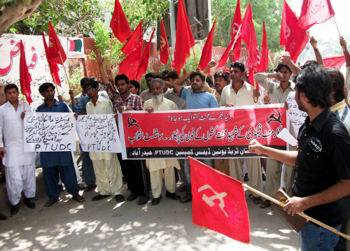 The Pakistan Trade Union Defence Campaign has organised a campaign of public meetings to commemorate the hundreds of workers who were recently killed in fire factories in Karachi and Lahore, exposing the criminal behaviour of the owners who had locked all exits bar one [at the Karachi factory] and even then insisted that finished goods should have priority over workers trying to escape to save their lives! The capitalists of Pakistan stand condemned before the whole of the working people.