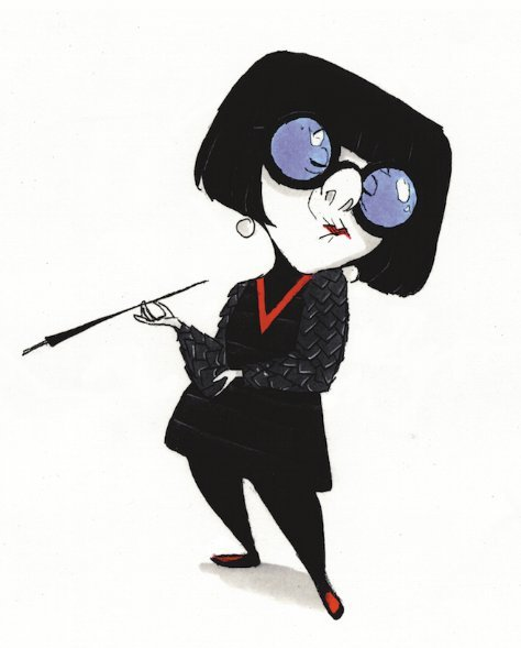 disneypixar:  Visual development Edna is not impressed.