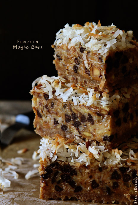 gastrogirl:  pumpkin 7-layer magic bars.
