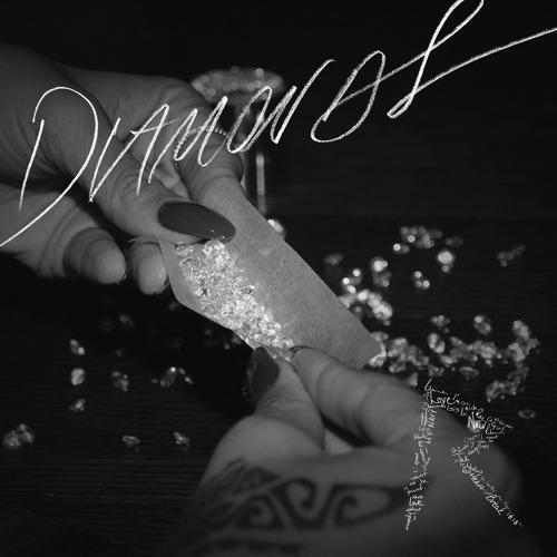 "This is Rihanna's cover of her upcoming single, ""Diamonds"". Set to release Wednesday, September 26th at 8am on radio stations nationwide. And with a new single comes a new album. Rihanna is one of the HARDEST working pop artists I know. Talk That Talk hasn't even settled in good and she's already about to hit us with another (stellar, Im sure!) album. CHEERS! to Rihanna and her diligence, consistency, and hardworking ethic. #love"