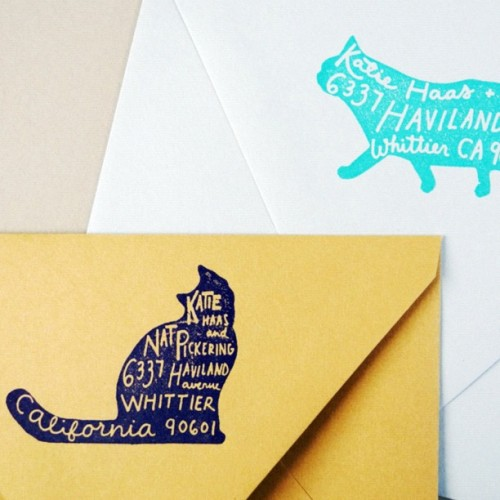 Paper pastries newest product #pet return address #stamp available at paperpastries.com (Taken with Instagram)