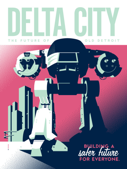 xombiedirge:  Delta City by Tom Whalen / Website / Tumblr Part of the 'Around the World in an 80's Daze' art show at Gallery1988 / Tumblr.