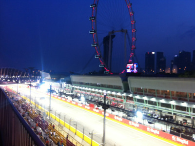 calvinklein:  At the track for the 2012 Formula 1 Singtel Singapore Grand Prix.
