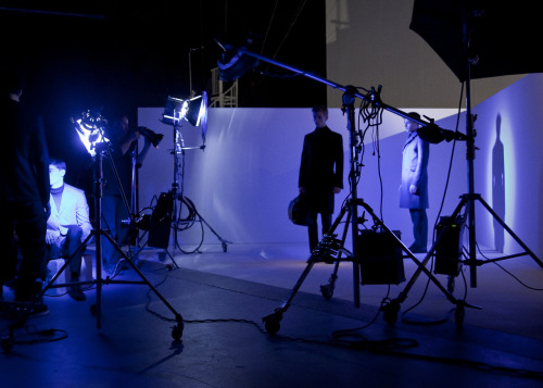In the blue studio for a ck Calvin Klein shoot, NYC.