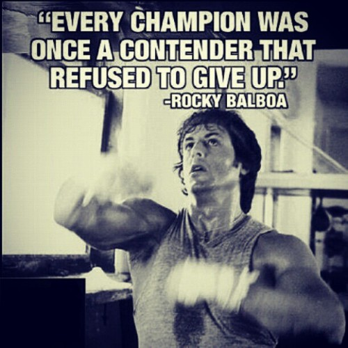 #Bodybuilding #Bodybuilder #Boxing #Motivational #Motivation #Inspirational #Inspiration #MuscleAndFitness #Muscle #Fitness #Fitspiration #Workout #Daily #Picture #Quote #Rocky #Typography  (Taken with Instagram)