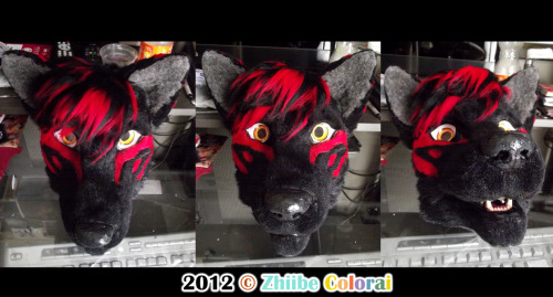 WIP #2Torch Fursuit Head