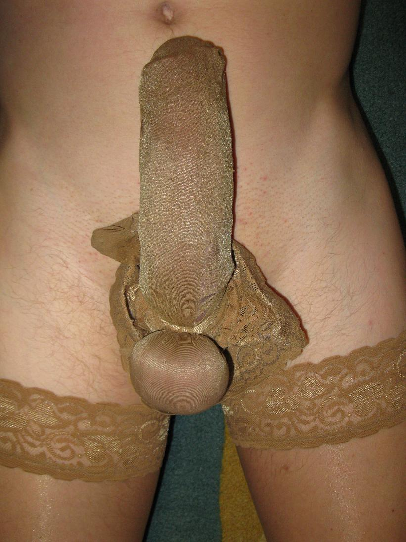Nylons on my cock