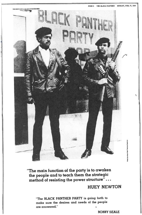 disciplesofmalcolm:  Bobby Seale and Huey Newton.