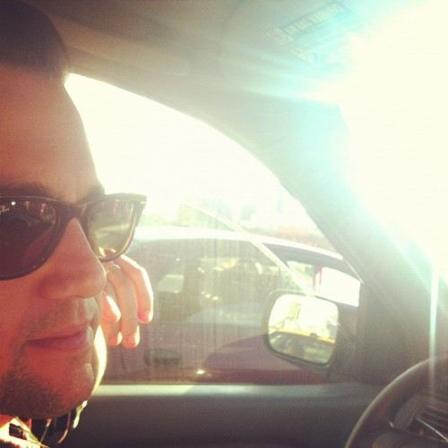 Sunny traffic jam. (Taken with Instagram)