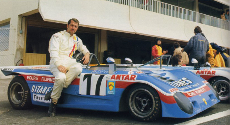 Jo Bonnier with his Lola T290 in Dijon, 1972.