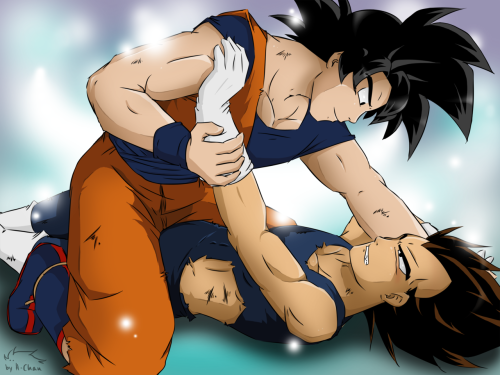 Goku nails Vegeta >D  This pic isn't new, but I wanted to upload it on tumblr too :D