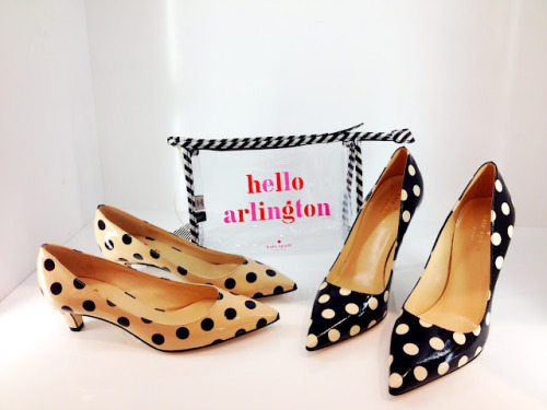 katespadeny:  hello arlington! have you been by our new shop? (via MIMI MEG: kate spade new york — arlington launch party)  good god i need those kitten heels like now
