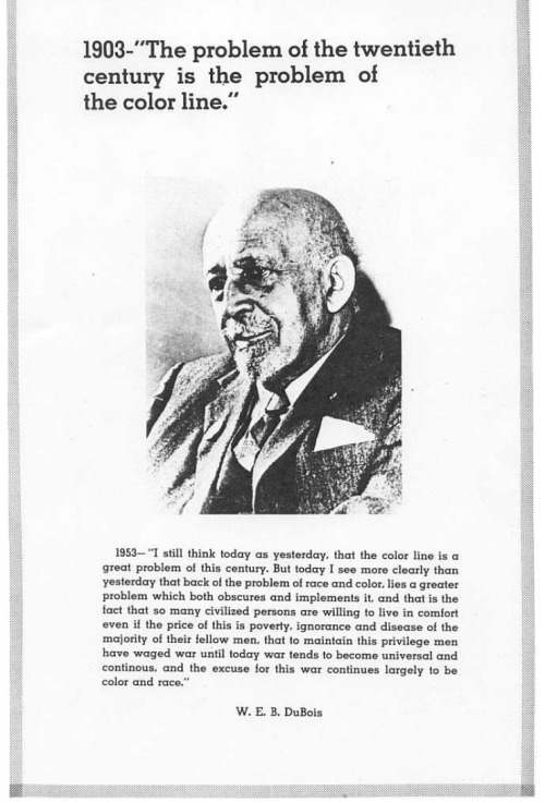 disciplesofmalcolm:  W.E.B. Du Bois. Taken from an issue of The Black Panther.