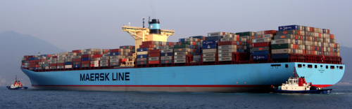 "Emma Mærsk - At nearly 400 meters in length, the Emma is the longest container ship in the world. Besides being the longest, she also has the world's largest diesel engine producing nearly 110,000 horsepower. She carries over 11,000 containers from China to Europe every seven weeks, with stops in Africa and the Middle East on her way. Emma's first captain, Henrik Solmer, said that piloting her is a fantastic feeling and ""what younger people would say is cool."""