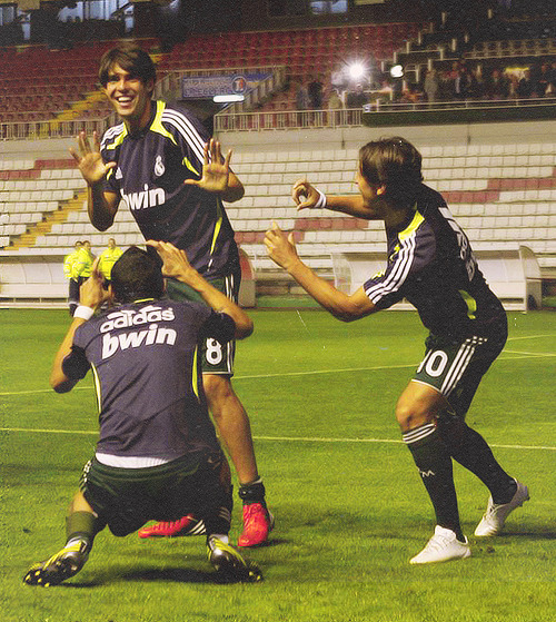 realmadridchickka:  Kaka feeling like a star….The most adorable thing ever <3