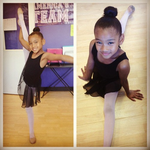 Stretching before dance class! #instakids #instadaily #dance #sooobonus #swagofourown #ballerina #potd #kids #cute #talented #girl  #instabeauty #dancer #srdc #strictlyrhythm  (Taken with Instagram)